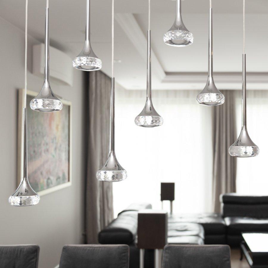lampadario sospensione in cristallo